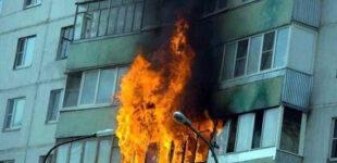 В Запорожье произошел пожар в многоэтажке: спасатели эвакуировали владельца квартиры