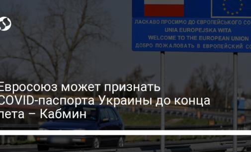 Евросоюз может признать COVID-паспорта Украины до конца лета – Кабмин