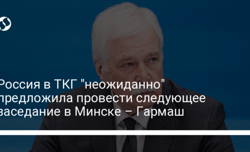 """Россия в ТКГ """"неожиданно"""" предложила провести следующее заседание в Минске – Гармаш"""