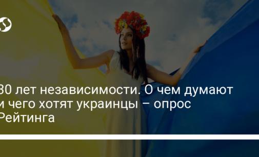 30 лет независимости. О чем думают и чего хотят украинцы – опрос Рейтинга