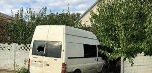В Мелитополе выпивший водитель маршрутки въехал в забор частного дома