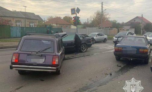 В Харькове водитель автомобиля «ВАЗ» протаранил машины «BMW» и «Audi», — ФОТО