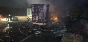 Сгорели два грузовика: на трассе Киев-Одесса в ДТП погиб водитель зерновоза, — ФОТО