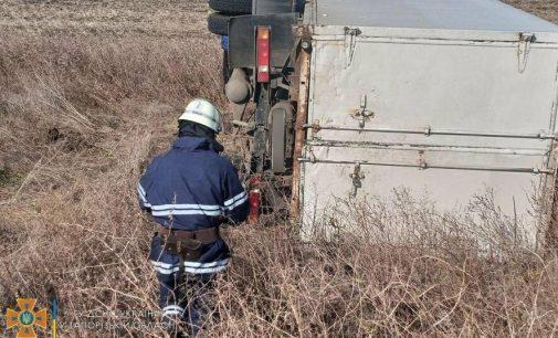 В Запорожской области «Газель» съехала в кювет и перевернулась