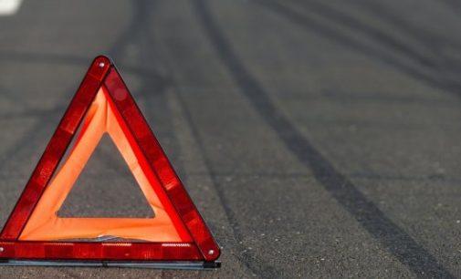 В центре Запорожья столкнулись автомобиль и мотоцикл